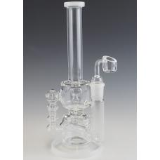 Double Tube Recycler Oil Rig Inline Percolator