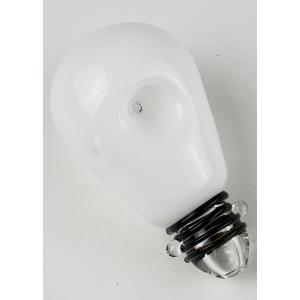 Stoner Thoughts Light Bulb Glass Pipe
