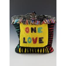 One Love Razor Cut Hippie Style Body Purse