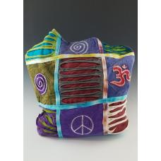 Peace, Om, Spiral Patchwork and Razor Cut Hippie Style Body Purse
