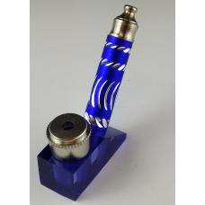 Stand Up Diamond Cut Metal Pipe with Acrylic Base