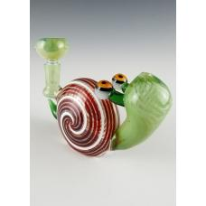 Snail Design Water Pipe With Custom Glass Work